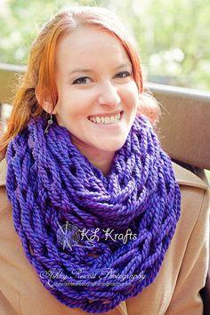 BLACK FRIDAY SALE Knit Infinity Scarf Infinity Scarf by KimLKrafts