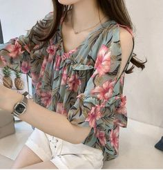 Cheap Blouses & Shirts, Buy Directly from China new fashion sweet style women clothing printed casual plus size women tops short sleeved blouses loose women shirts 0615 40 Camisa Feminina Plus Size, Plus Size Women's Tops, Women Sleeve, Loose Tops, Sweet Style, Short Sleeve Blouse, Blouses For Women, Cheap Blouses, New Fashion