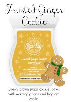 Scentsy Frosted Ginger Cookie  https://roxannebaber.scentsy.us