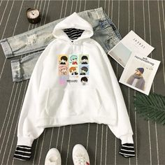 Women's Clothing New Fashion Kpop Got7 Present You Album Same Printing Short Sleeve Hooded K Pop Shirts Loose Hood Plus Velvet Thin Pullover Tops Keep You Fit All The Time