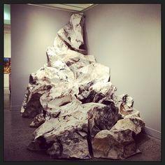 Paper Installation, Bathurst Regional  Gallery, Renuka Fernando, 2014