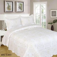 HJCT-003 (Luxury) King Beds, Queen Beds, Double Queen Bed, Quilt Sets, Comforters, Pillow Cases, Bedrooms, Blanket, Luxury