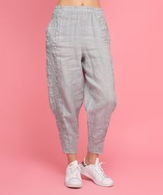 Love this Gray Laurie Linen Harem Pants - Women, Plus & Petite Plus on #zulily! #zulilyfinds