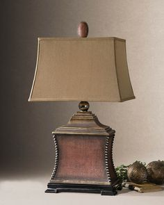 Uttermost 26326 PAVIA Tuscan Lamp.  Tuscan Light Fixtures, Tuscan Lamps, Tuscan Lights and Table Lamps.  Authorized Tuscan Lamp Retailer Since 1996.  BellaSoleil.com Tuscan Decor.