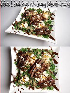 Quinoa & Steak Salad with Creamy Balsamic Dressing