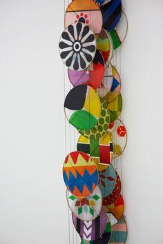 Paper, bamboo, acrylic, Dacron by Jacob Hashimoto - Selected Exhibitions - SCHAUWERK Sindelfingen2013