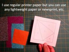 paper piecing made easy