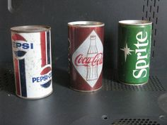 #Pepsi #coke #cocacala #sprite latas de los 80