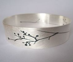 awesome BANGLE CONTEMPORARY SILVER -  BANGLES & ANKLETS