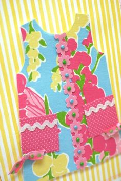 Lilly Pulitzer handmade card