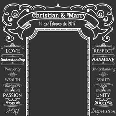Allenjoy DIY Wedding Background Idea Chalk Archway backdrop chalkboard Custom name date backdrop photocall Excluding bracket