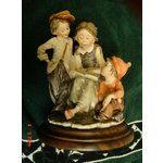 302292948 Image 1 G Giuseppe Armani Gullivers World 3 CHILDREN READING: 2 Boys & 1 Girl