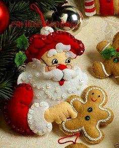 Bucilla Christmas Cookies ~ Felt Ornament Kit #86148, 6 Piece, Santa Baking