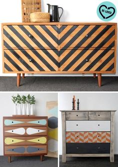 Classic Home Decor diy patterns chest of drawers.Classic Home Decor diy patterns chest of drawers Retro Furniture, Refurbished Furniture, Handmade Furniture, Handmade Home Decor, Upcycled Furniture, Furniture Projects, Furniture Makeover, Painted Furniture, Diy Furniture