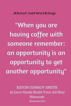 """Kevin Conroy Smith talks about networking on the Levo Guides """"Build Your All-Star Network"""" http://www.levo.com/guides/1/chapters/1"""