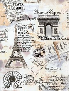 Paris Spring - Vintage Vacation - Cream