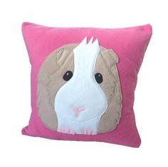 Pink Guinea pig cushion