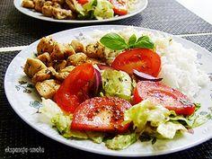kurczak,ryż,sałatka,nalato,