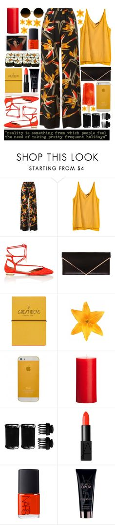 """Holidays"" by valdep ❤ liked on Polyvore featuring Fendi, H&M, Aquazzura, Givenchy, Topshop, Clips, T3, NARS Cosmetics, Yves Saint Laurent and prints"