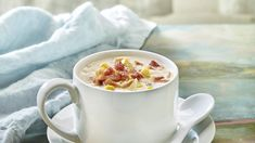 Hearty and packed with bacon flavor, this chowder is the creamy solution to any chilly day. Made with a light cream base, it's full of potatoes and corn for a satisfying lunch or dinner. Cream Recipes, Yummy Recipes, Dinner Recipes, Cooking Recipes, Yummy Food, Healthy Recipes, Bacon Potato Corn Chowder, Potato Soup, Valley Dairy