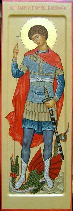 """Great Martyr St George- Trophy bearer Кукол Оксана - Сайт художника - Работа """"Великомученик Георгий Победоносец"""""""