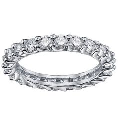 White Gold 1.8-2ct TDW Diamond Braided Eternity Ring (G-H, SI1-SI2) (Platinum - Size 8.0), Women's