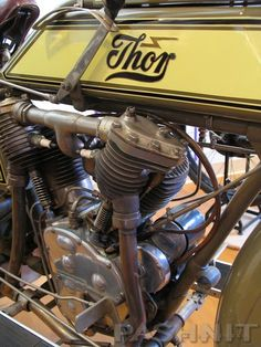 Thor Motorcycles was an American Manufacturer of Motorcycles and Motorcycle Parts Especially Engines, Founded in Aurora, Illinois Old School Motorcycles, Antique Motorcycles, American Motorcycles, Racing Motorcycles, Custom Motorcycles, Thor, Vintage Cycles, Vintage Bikes, Classic Motors