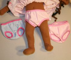 Free Tutorial - how to make underwear for your doll style 1 with Fold Over Elastic