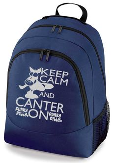 Funky Filly Silver Keep Calm and Canter On School Backpack