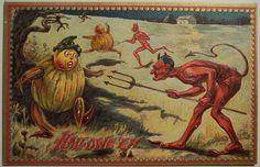 Vintage Halloween Postcard from Tuck Series 160 by riptheskull, via Flickr