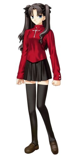Rin Tohsaka (遠坂 凛, Tōsaka Rin) is one of the three main heroines of Fate/stay night who acts as the Master of Archer in the Fifth Holy Grail War. Two centuries ago, the Tohsaka House, in collaboration with the estates of Makiri and Einzbern, helped found the Fuyuki Holy Grail Wars. The land of Fuyuki City, which possessed the second greatest spiritual power in all Japan, was owned by Rin's ancestor, Nagato Tohsaka; at the behest of the Einzberns, he provided his property as battleground…