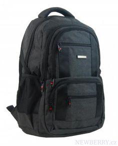 New Berry Elegantný polstrovaný školský batoh L18106 čierny : NEWBERRY - velkoobchod dámské kabelky a pánské tašky, peněženky, batohy, kožené zboží Sleeping Tent, Outdoor Stuff, Cloth Bags, Trekking, Backpacking, Safari, Hiking, Footwear, Travel