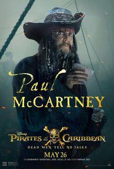 Pirates of the Caribbean Sir Paul Mccartney 2017 Movie Poster Art Silk Print Home Decor - Pirate Art, Pirate Life, Paul Mccartney 2017, Captain Salazar, Actors Funny, On Stranger Tides, Estilo Rock, Sir Paul, Background Images Wallpapers