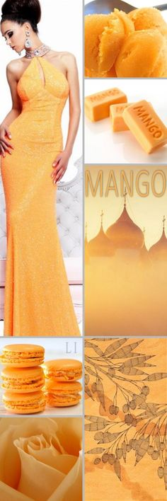"""Let's pin this color board of """" MANGO """" thanks so much Paint Color Schemes, Colour Pallete, Color Combinations, Color Collage, Mood Colors, Color Naranja, Color Harmony, Shades Of Yellow, Mellow Yellow"""