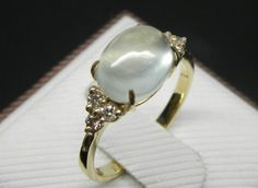 Engagement Ring   3.5 Carat Prehnite Ring With by stevejewelry, $599.00