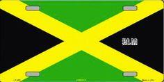 Reggae Land Muzik Store - Jamaica Flag : License Plate, $12.98 (http://www.reggaelandmuzik.com/jamaica-flag-license-plate/)