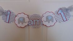 Elephant Birthday Hi-Chair Banner by ASweetCelebration on Etsy