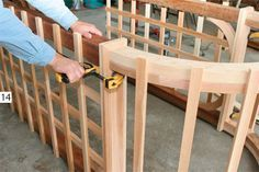Build a Garden Arbor: Simple DIY Woodworking Project - Popular Mechanics Free plans including the Arch!to Build a Garden Arbor: Simple DIY Woodworking Project - Popular Mechanics Free plans including the Arch! Outdoor Projects, Garden Projects, Home Projects, Outdoor Decor, Pergola Plans, Diy Pergola, Pergola Kits, Cheap Pergola, Pergola Ideas