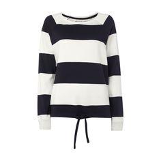 #Christian #Berg #Woman #Sweatshirt mit #Blockstreifen für #Damen - Damen Sweatshirt von Christian Berg Woman, Baumwoll-Modal-Mix, Lockerer Schnitt, Rundhalsausschnitt, Blockstreifen, Lange Raglanärmel, Tunnelzug am Saum , Rückenlänge bei Größe M: 64 cm