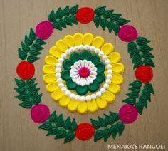 Rangoli Designs Peacock, Easy Rangoli Designs Diwali, Rangoli Designs Latest, Simple Rangoli Designs Images, Free Hand Rangoli Design, Rangoli Border Designs, Small Rangoli Design, Rangoli Patterns, Colorful Rangoli Designs