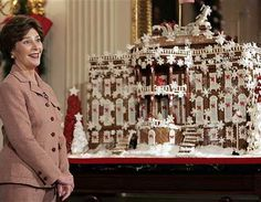 White House Gingerbread | (2006) First Lady Laura Bush displays the annual gingerbread house.