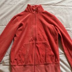 """Selling this """"Pink Juicy Couture jacket. Hoodless. Made in USA."""" in my Poshmark closet! My username is: krdefacci. #shopmycloset #poshmark #fashion #shopping #style #forsale #Juicy Couture #Jackets & Blazers"""