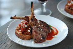 Grilled Lamb with Tomato Vinaigrette & Caponata