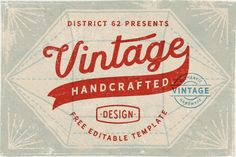 free, vintage, retro, label, logo, template, script, typography, font, weathered, grunge, textured, sign, stamp, frame, diamond shape, banner Free Logo Templates, Label Templates, Grunge, Vintage Labels, Retro Vintage, Free Christmas Printables, Banner, Illustrations And Posters, Logo Branding