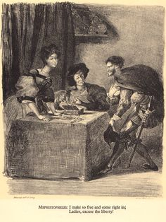 Delacroix's Rare Illustrations for Goethe's Faust | Brain Pickings
