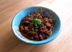 North Indian Red Bean Chili. Garam masala and other Indian spices make this pot of chili wonderfully unique and warm.