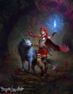 little red riding hood art fantasy gallery Dark Fantasy Art, Fantasy Kunst, Red Riding Hood Wolf, Red Ridding Hood, Anime Wolf, Character Inspiration, Character Art, Character Design, Fanart Manga