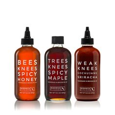 Bees Knees Spicy Honey, the only hot sauce you'll ever need. Our chili-infused hot honey is the best way to make every meal un-boring. Spicy Honey, Sweet And Spicy, Tree Bees, Salsa, Brooklyn, Honey Packaging, Honey Syrup, Hcg Diet, Bees Knees