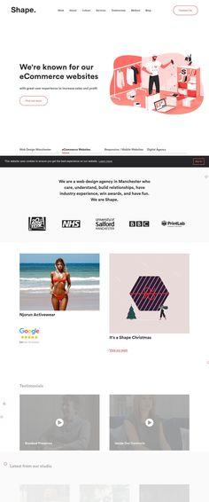 MadeByShape (More web design inspiration at topdesigninspiration.com) #design #web #webdesign #sitedesign #responsive #ux #ui Web Design Agency, Design Web, Site Design, Landing Page Design, Web Design Inspiration, Website Template, Have Fun, Templates, Web Design