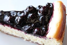 A Bountiful Kitchen: White Chocolate Blueberry Cheesecake with Ginger Cookie Crust